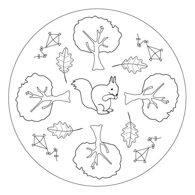 Autumn mandala coloring 3 preschool and homeschool for Autumn mandala coloring pages