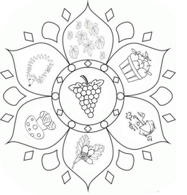 Autumn mandalas 23 preschool and homeschool for Autumn mandala coloring pages