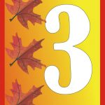 Autumn number printables