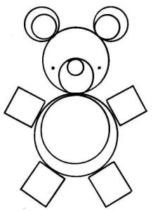 bear shapes coloring page