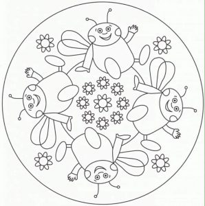bee mandala coloring