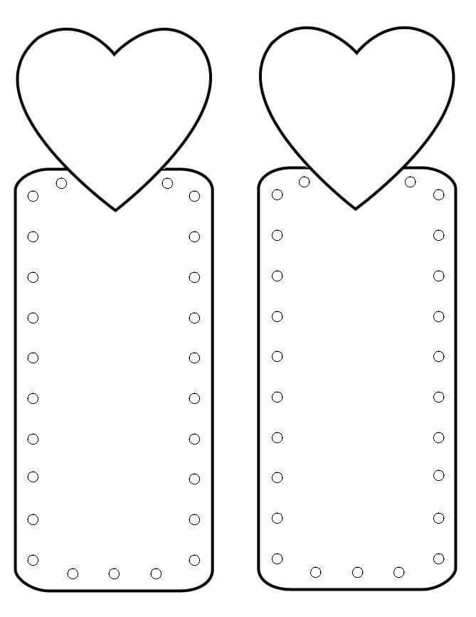 Bookmark coloring pages 1 preschool and homeschool for Book marker template