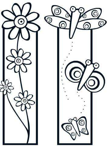 bookmark coloring pages 12