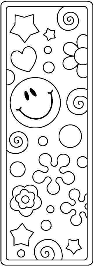 bookmark coloring pages 7 funnycrafts