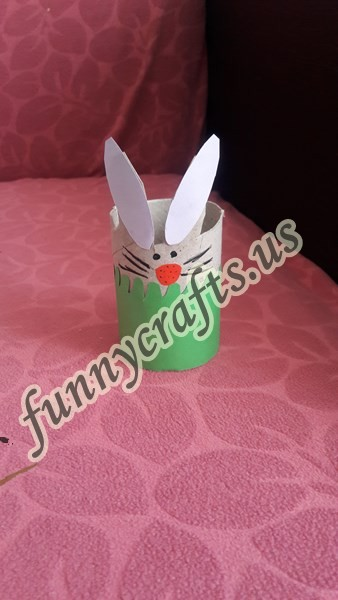 Photo of Paper roll bunny craft