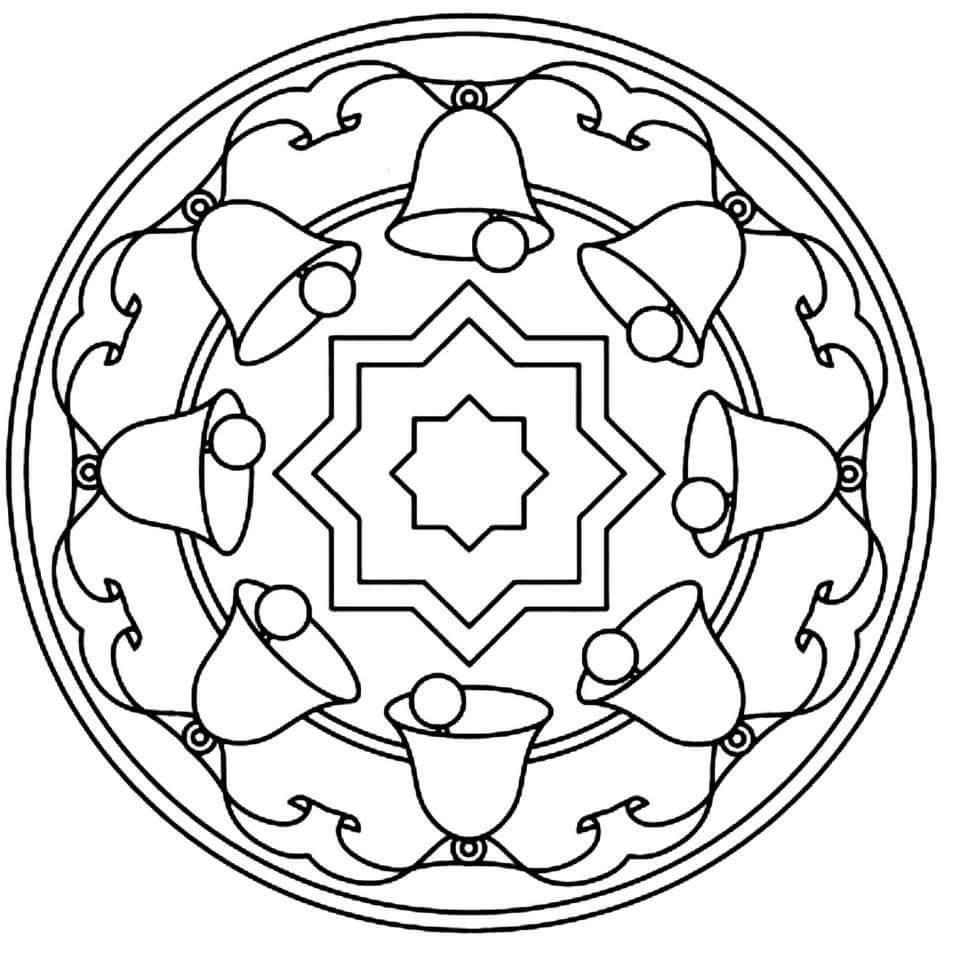 christmas mandala coloring pages christmas mandalas coloring 13 - Christmas Mandalas Coloring Book