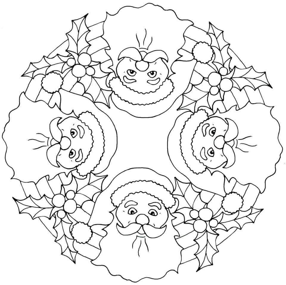 christmas mandala coloring pages christmas mandalas coloring 14 - Christmas Mandalas Coloring Book
