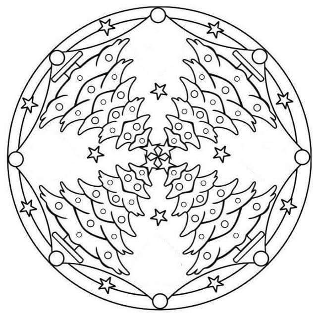 christmas mandalas coloring 1 christmas mandalas coloring 2 - Christmas Mandalas Coloring Book