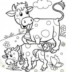 Farm animals coloring pages funnycrafts