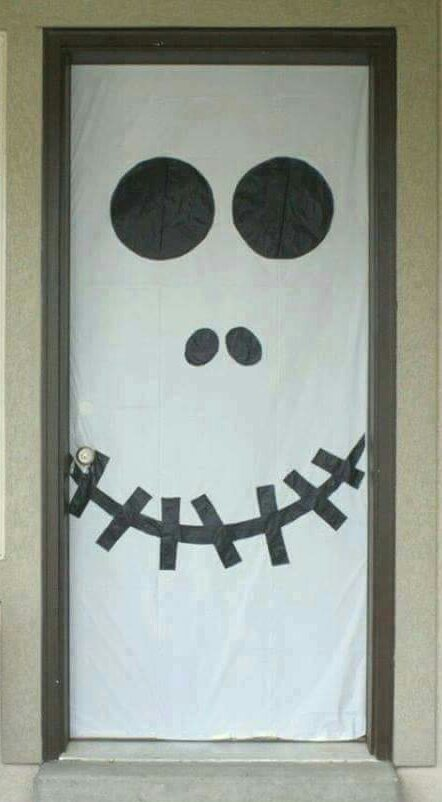 halloween door decorations creative halloween door decorations_1 - Creative Halloween Door Decorations