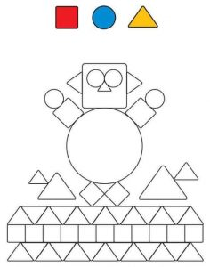 creative shapes coloring page