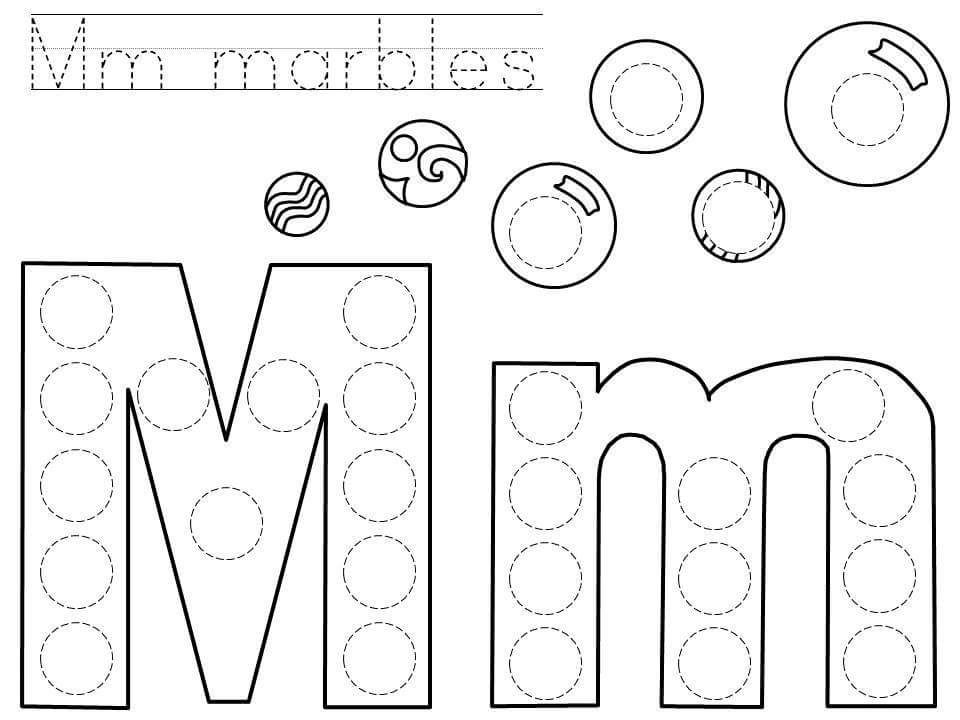 Do-a-dot-letter-m-printable « Preschool And Homeschool
