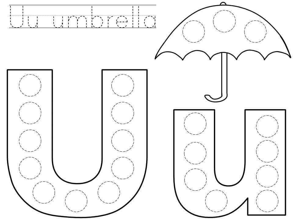Do-a-dot-letter-u-printable « Preschool And Homeschool