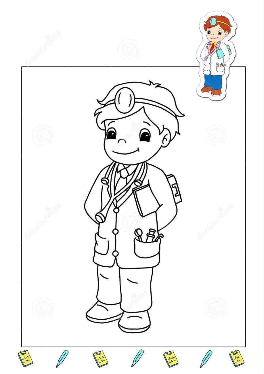 doctor-coloring-page « Preschool and Homeschool