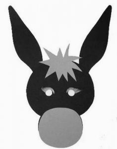 donkey-mask-template