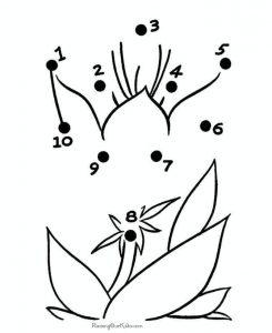 easy flower dot to dot sheet