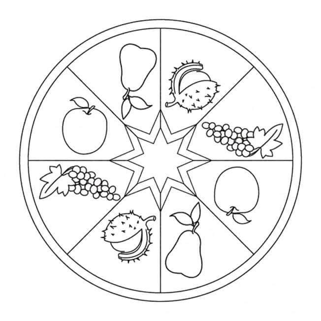 Fall mandalas 4 preschool and homeschool for Fall mandala coloring pages