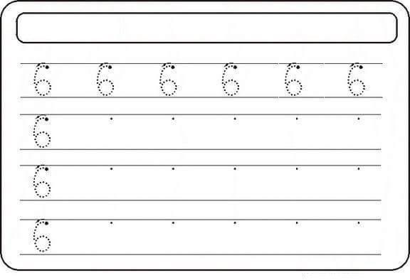 Free-educational-printable-number-six-tracing-worksheets-2