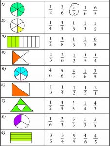 free fraction worksheet (1)