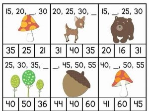 free printable missing number sheets