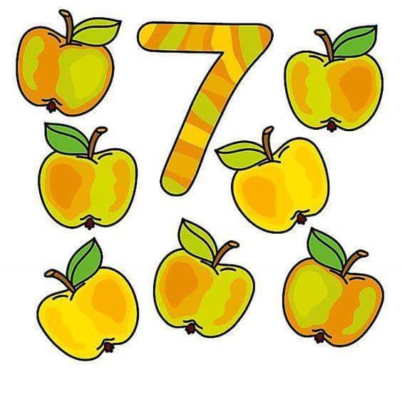 Fruits number flashcards forkids Funnycrafts