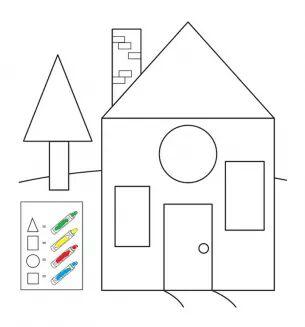 fun shapes coloring page Preschool and Homeschool