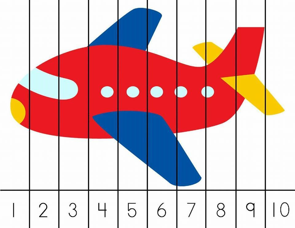 Fun Vehicle Number Puzzle For Kids 2 on Seasons Preschool Activities And Crafts 4