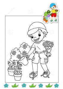 gardener-coloring-page