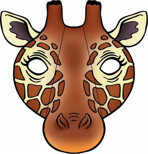 animal mask templates printable giraffe mask template