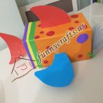 Cardboard box fish craft