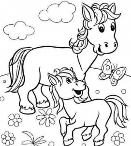 horse-and-baby-coloring-page-1