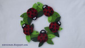 ladybug door craft