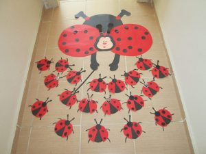 ladybug door decoration for preschool