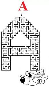 letter A maze (4)