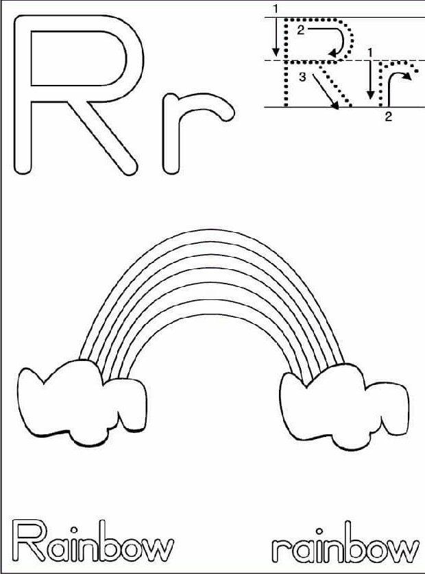 letter r handwriting worksheets for children  funnycrafts