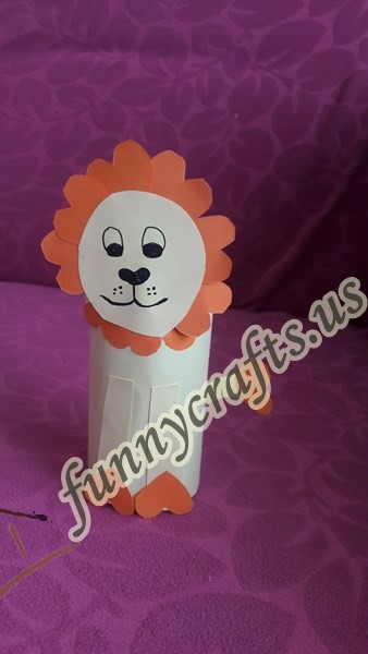 Photo of Toilet paper roll lion craft for kids