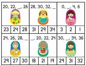 math missing number worksheets