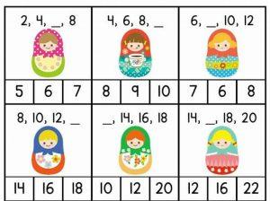 matruska missing number sheets