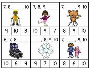 missing number math worksheets