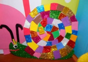 mozaic snail craft
