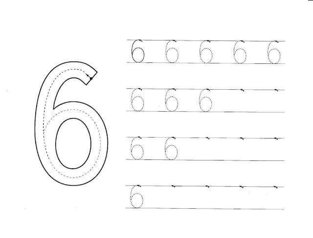 number 6 worksheets 2 funnycrafts. Black Bedroom Furniture Sets. Home Design Ideas