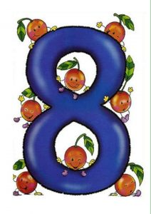 number-eight-card-with-fruit