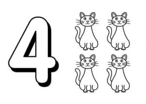 number-four-flashcads