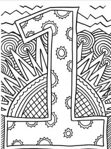 number-one-coloring-page