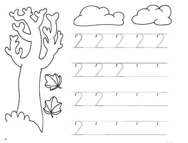 Number-one-two-pre-writing-worksheets-for-preschool-3