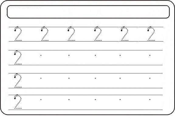 numbertwoprewritingworksheets2 funnycrafts – Number Writing Worksheet