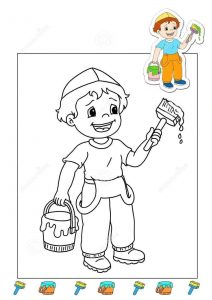 painter-coloring-page