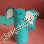 Preschool toilet paper roll elephant craft