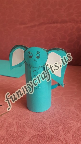 Photo of Preschool toilet paper roll elephant craft