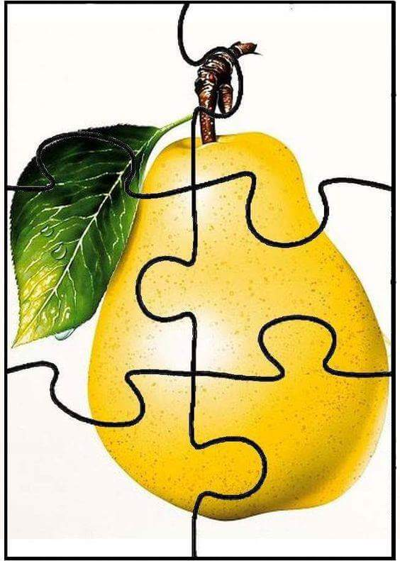 Pear Puzzle For Kids Preschool And Homeschool